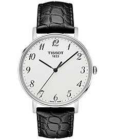 Tissot Men's Swiss T-Classic Black Leather Strap Watch 38mm T1094101603200