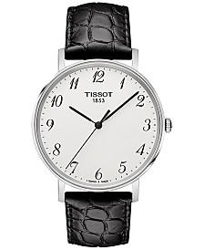 Tissot Men's Swiss T-Classic Black Leather Strap Watch 38mm T1094101603200