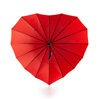 Celebrate Shop Heart Umbrella (Bright Red)
