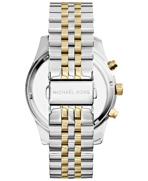 c40d60786 ... Michael Kors Men's Chronograph Lexington Two-Tone Stainless Steel Watch  45mm MK8344 ...