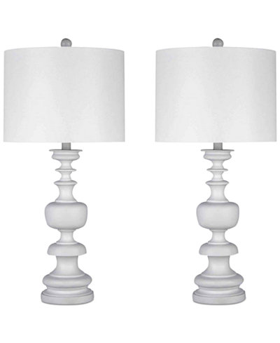 Abbyson Living Ellie Set of 2 Spiral Table Lamps