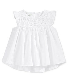 First Impressions Swiss-Dot Woven Babydoll Tunic, Baby Girls, Created for Macy's
