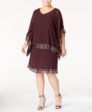 Buy Boardwalk Empire Inspired Dresses Sl Fashions Plus Size Embellished Chiffon Cape and Dress $69.99 AT vintagedancer.com