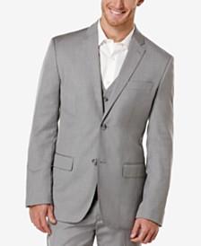 Perry Ellis Big and Tall Linen Blend Textured Blazer