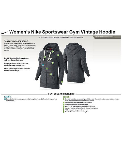 7f04eaee577 Nike Plus Size Sportswear Gym Vintage Hoodie   Reviews - Jackets ...