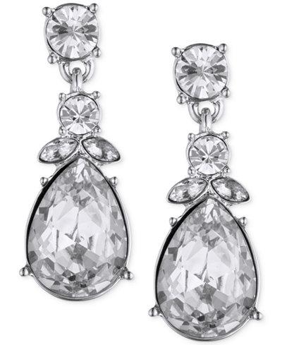 Givenchy Multi-Crystal Pear Drop Earrings