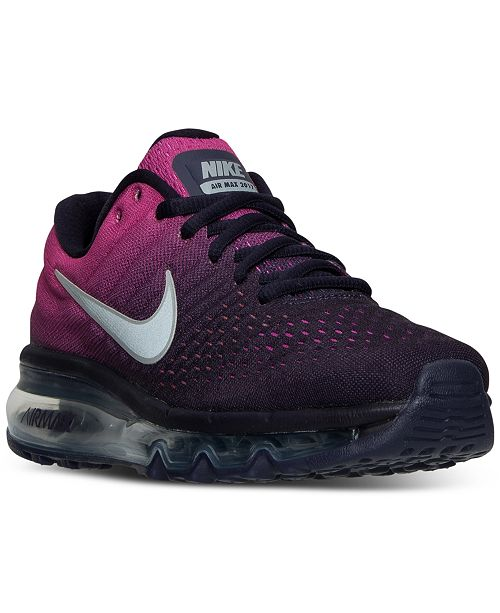 separation shoes ef003 87a20 Nike Big Girls' Air Max 2017 Running Sneakers from Finish ...
