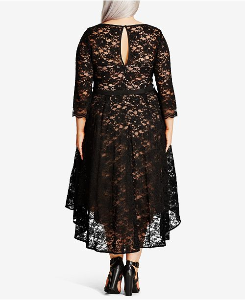 1ab6c0d3be1 City Chic Trendy Plus Size Lace Midi Dress   Reviews - Dresses ...