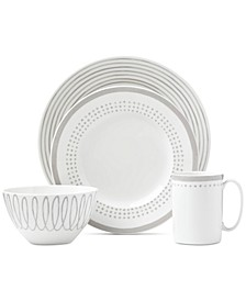 Charlotte Street East Grey Collection 4-Piece Place Setting