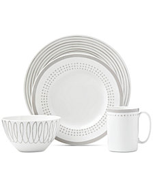 kate spade new york Charlotte Street East Grey Collection 4-Piece Place Setting