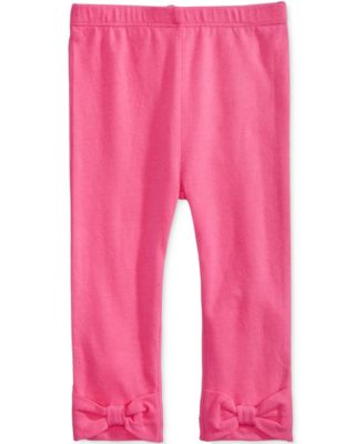 Baby Girls Solid Bow Leggings, Created for Macy's