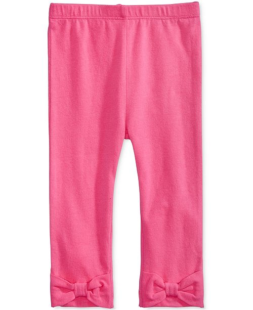 736108842 First Impressions Baby Girls Solid Bow Leggings, Created for Macy's ...