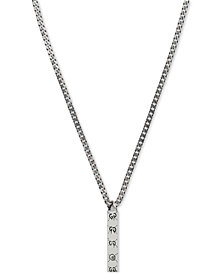 Gucci Men's Gucci Ghost Sterling Silver Pendant Necklace YBB45531400100U