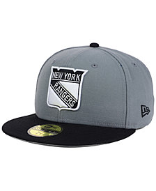 New Era New York Rangers Gray Black 59FIFTY Cap