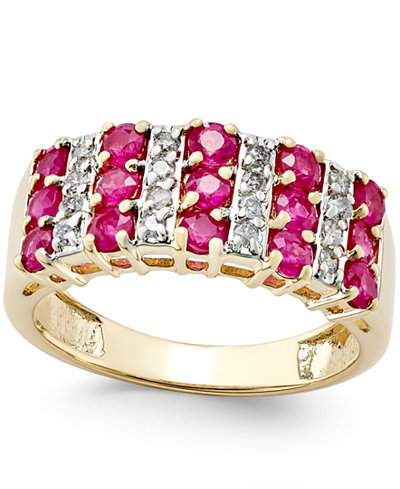 Ruby (1-1/2 ct. t.w.) and Diamond (1/5 ct. t.w.) Ring in 14k Gold