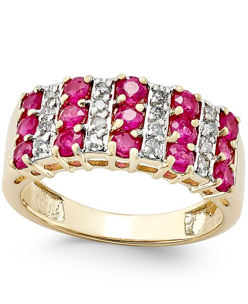 Macy's Ruby (1-1/2 ct. t.w.) and Diamond (1/5 ct. t.w.) Ring in 14k Gold