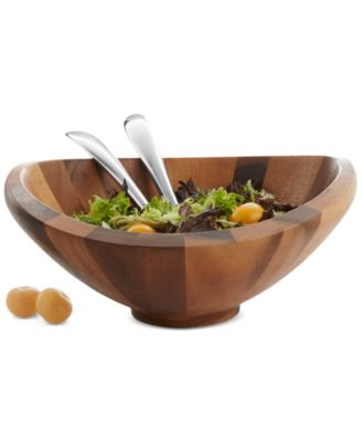 Nambe Butterfly Salad Bowl with Servers