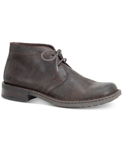 Born Men's Harrison Plain Toe Chukka Boots - All Men's Shoes - Men ...