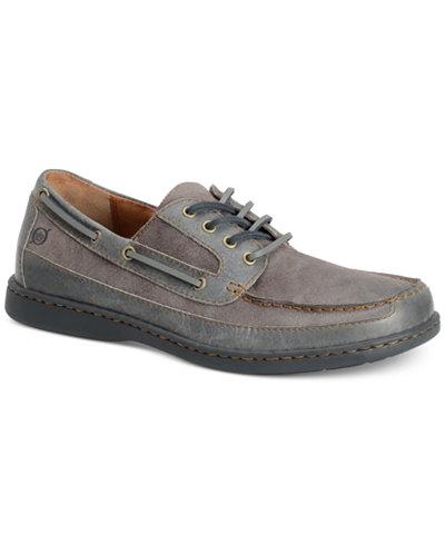 Born Men's Harwich 4-Eye Canoe Moc-Toe Boat Shoes