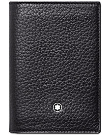 Montblanc Men's Meisterstück Black Leather Business Card Holder 113310