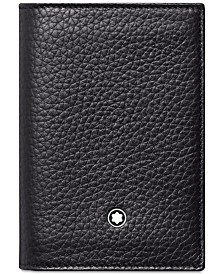 Montblanc Men's Meisterstück Black Leather Business Card Holder 113310