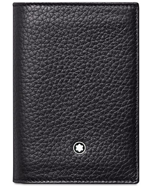 Montblanc mens meisterstck black leather business card holder main image main image colourmoves