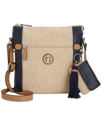 Image of Giani Bernini Contrast Crossbody, Only at Macy's