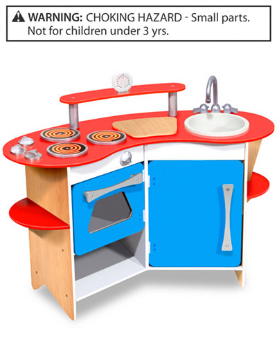Melissa & Doug Toy, Cook\'s Corner Wooden Kitchen - Sets & Outfits ...
