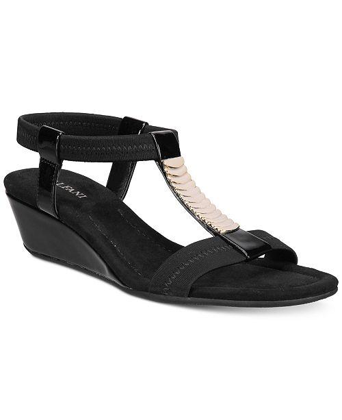 Alfani Women's Vacay Wedge Sandals, Created for Macy's