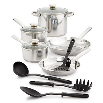 Bella 12-Pices Stainless Steel Cookware Set