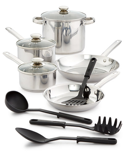 Bella 12 Pc Stainless Steel Cookware Set Cookware