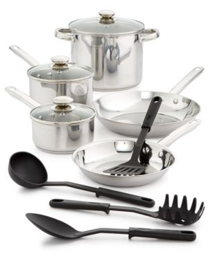 Bella 12-Pc. Stainless Steel Cookware Set 4339943