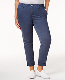 Style & Co Plus Size Cropped Chino Pants, Created for Macy's