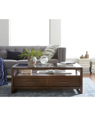 battery park coffee table, created for macy's - furniture - macy's