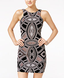 Speechless Juniors' Glitter Bodycon Tank Dress, Created for Macy's