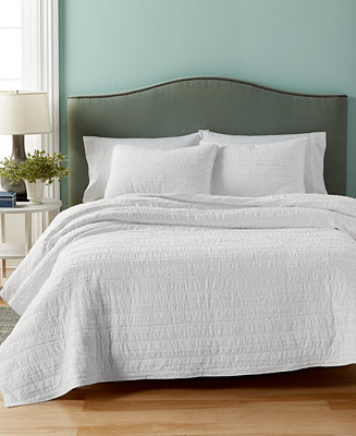 Martha Stewart Collection Eyelash Stripe Quilt And Sham