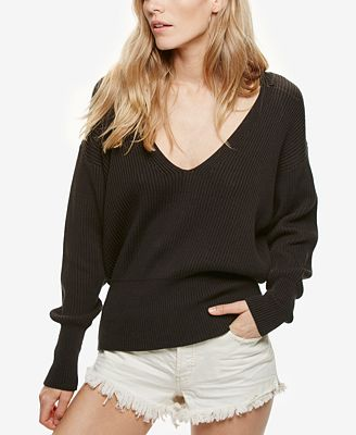 Free People Allure V-Neck Pullover Sweater