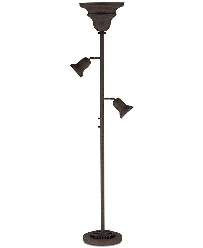 Kathy Ireland Pacific Coast Livingston Industrial Gear Tree Torchière Floor Lamp