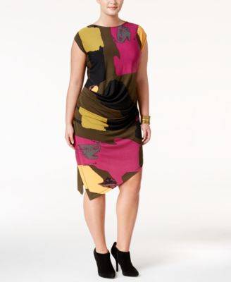 RACHEL Rachel Roy Curvy Trendy Plus Size Asymmetrical Dress