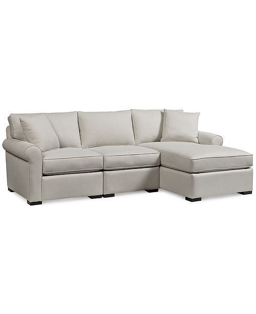 Furniture Astra 3 Pc Fabric Sectional With Chaise