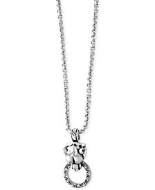EFFY® Men's Panther Doorknocker Pendant Necklace in Sterling Silver