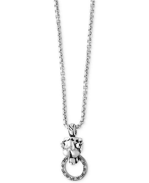 EFFY Collection EFFY reg  Men s Panther Doorknocker Pendant Necklace in Sterling  Silver 9fcf11e12