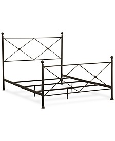 Hunton Queen Metal Bed, Quick Ship