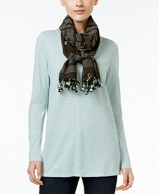 Eileen Fisher Organic Cotton Hand-Loomed Scarf