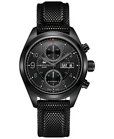 Men's Swiss Automatic Khaki Field Black Rubber Strap Watch 42mm H71626735