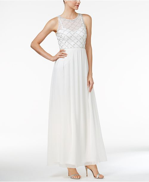 c3a3bcba680 Adrianna Papell Beaded A-Line Gown   Reviews - Dresses - Women ...