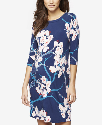 A Pea In The Pod Maternity Floral-Print Dress