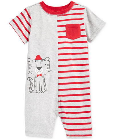 First Impressions Striped Lion Romper, Baby Boys (0-24 months), Only at Macy's