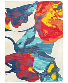 "JHB Design Vibe Vivid Blossom 7'10"" x 10'10"" Area Rug"