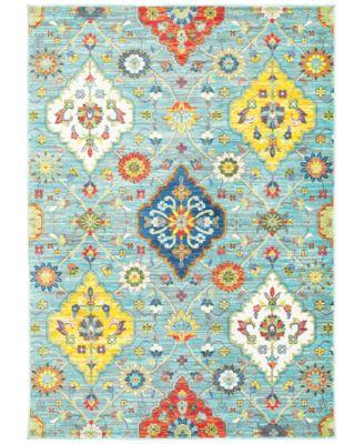 """CLOSEOUT! Vibe Persian Garden 6'7"""" x 9'6""""Area Rug"""